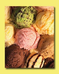 Ice cream, overcome your lactose intolerance and enjoy!