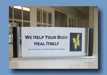 We help your body heal. If you want to treat your diseases, please see a physician.