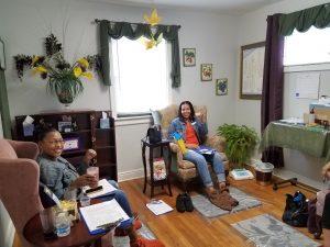 Enjoying Friends on Optimum Health's Day Spa Room
