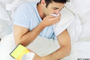 Allergies - Man Coughing