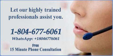 LET OUR HIGHLY TRAINED SPECIALIST ASSIST YOU. CALL 1-804-677-6061 OR WHATSAPP: +18046776061.