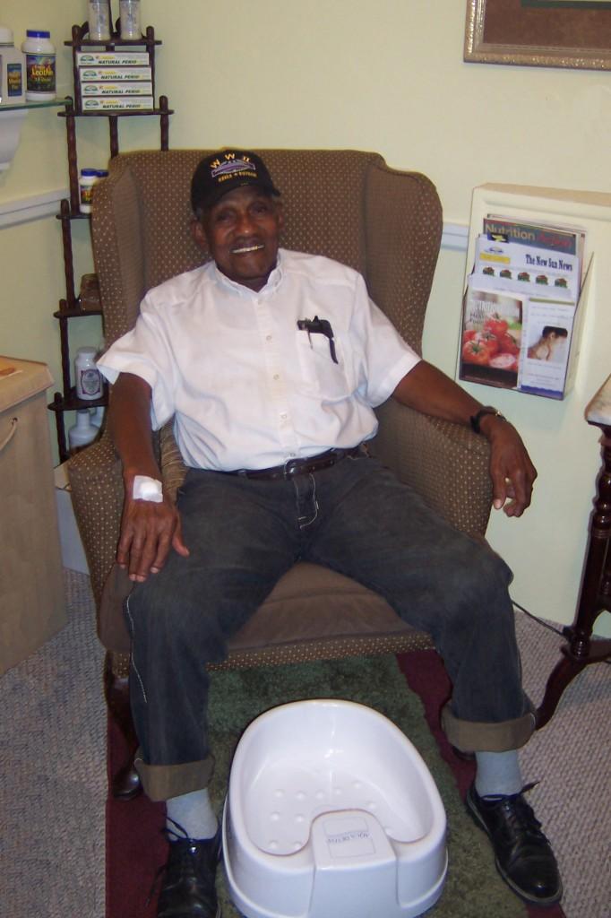 Robert Butler in detox chair.