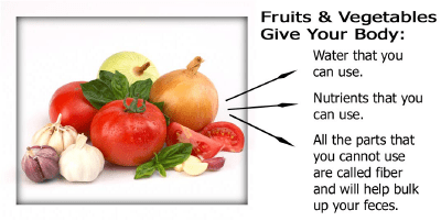Vegetables give your body water nutrients and fiber.